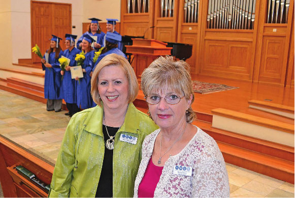 Pam Mohundro and Becky Ellison in Waco Today