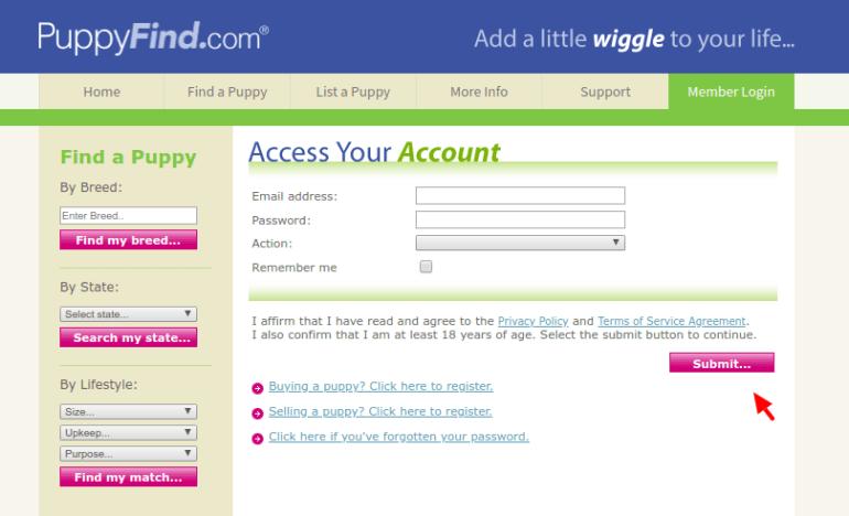 www puppyfind com - Online Login Guide For Puppyfind Portal