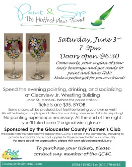 June paint and sip flyer
