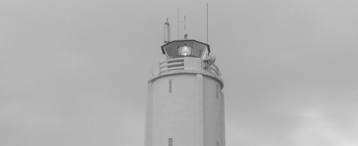 Coastal Lighthouse in Iceland