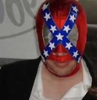 About a Guy Who Wears a Confederate Flag Mask…