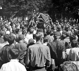 Rally at Ole Miss in 1962