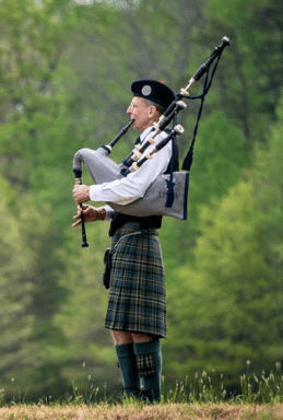 Bagpiper at Wilderness 150 Commemoration