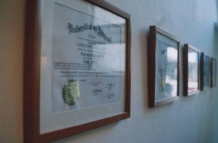 diplomas at green papaya
