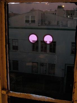 Activist Imagination window installation, preview image,detail