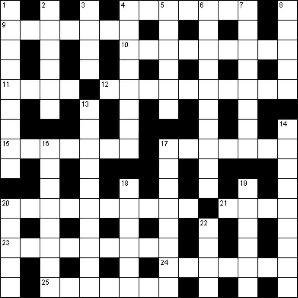 Blank Crossword Puzzle Template Free