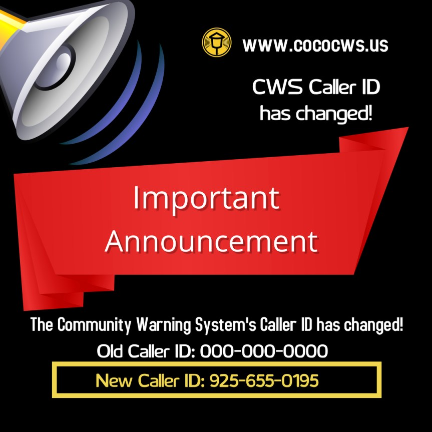 Our new Caller ID is 925-655-0195