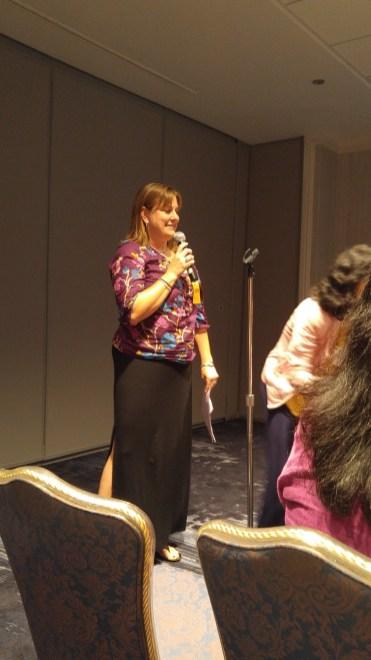 Jessica Kohlschmidt presenting CWS updates to website