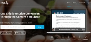 The Sniply URL shortener allows you to integrate a CTA in shared content