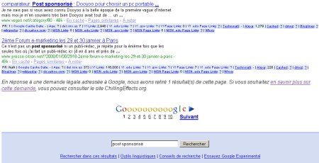 Google legal request