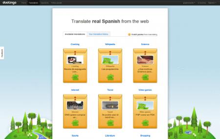 Duolingo, content translation