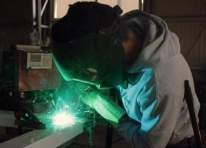 Arc welding man