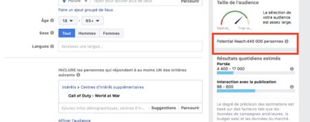 facebook targeting: video games