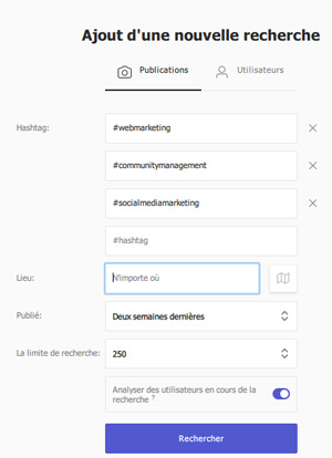 search instagram publications