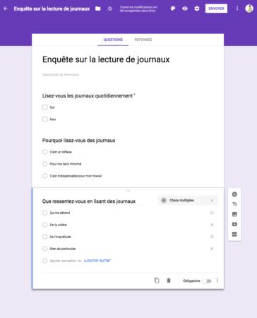 Les questionnaires, un outil efficace dans l'élaboration d'un produit désirable