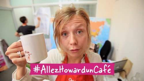 michel and augustin go howard a cafe