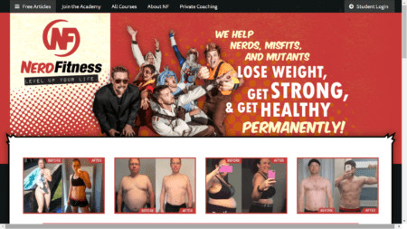 Nerdfitness home page