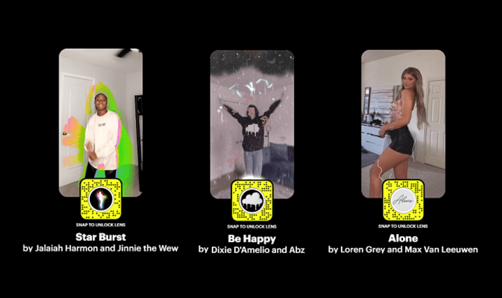 ▷ Snapchat takes inspiration from TikTok with its new AR lenses 2020
