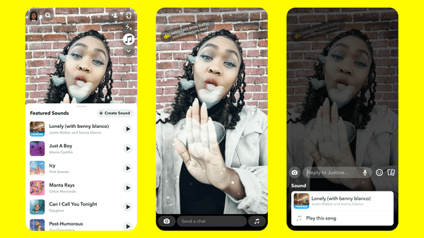 ▷ Snapchat adds a Sounds option for your snaps  2020