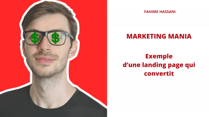 ▷ What to say on his landing page?  Marketing Mania Example 2020