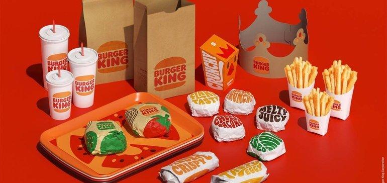 new visual identity focused on digital at Burger King 2021