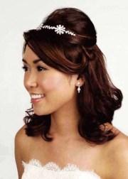 tiara wedding hairstyles