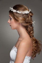 wedding hair braid flower