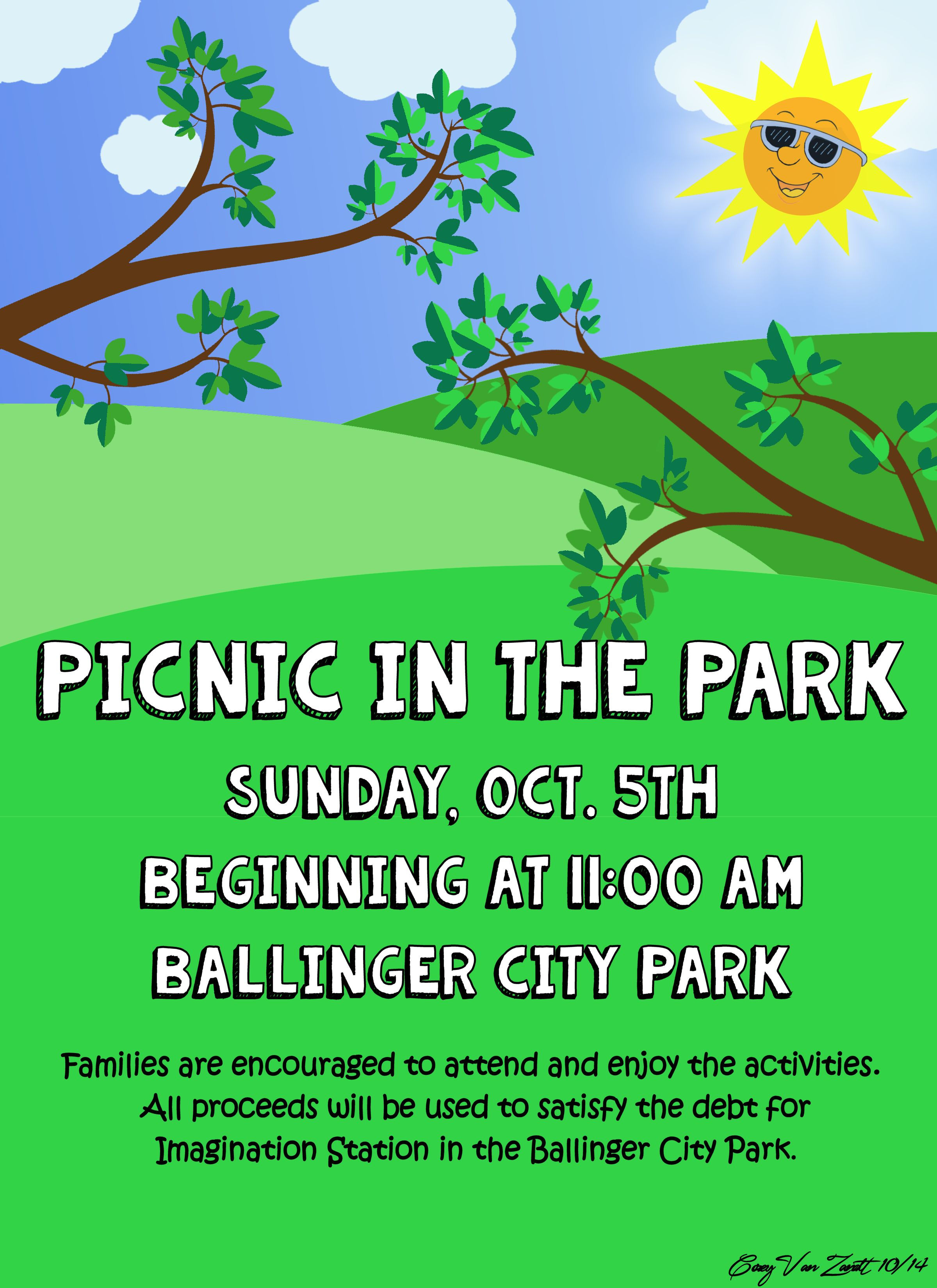 Picnic In The Park Poster – Corey Van Zandt