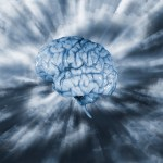human brain asnd cloud-scape