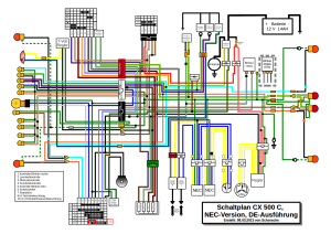 CX500 E Sports  Service Manual  Wiring Diagram