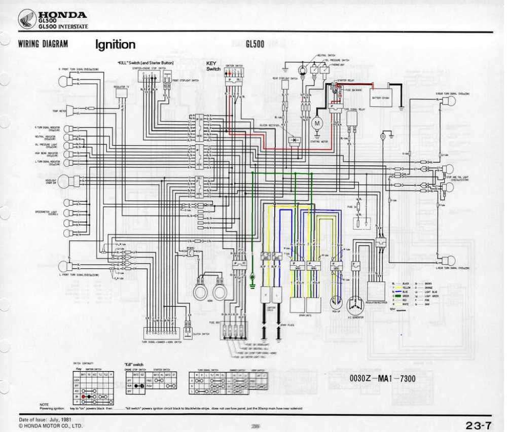 medium resolution of honda gl500 wiring diagram wiring diagram centre 87 honda cx500 wiring diagram