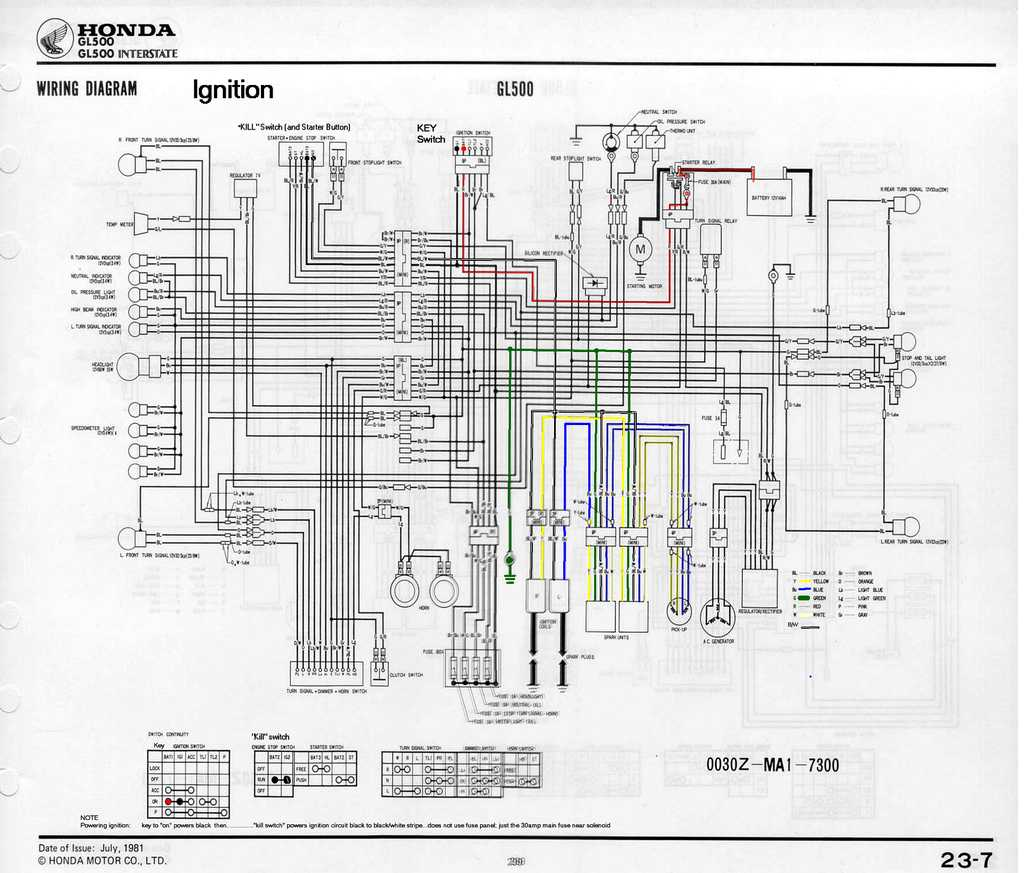 hight resolution of honda gl500 wiring diagram wiring diagram centre 87 honda cx500 wiring diagram