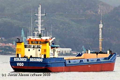 """Draga gánguil """"ECOLÓGICO SEGUNDO""""  Dragas y Buques de Trabajos Portuarios (2/2)"""