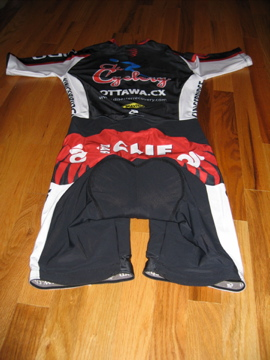 Back view of the short sleeve skinsuit.