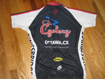 Back view of the jersey