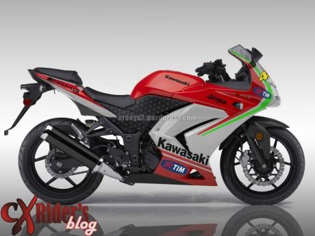 ninja 250 livery ducati 2012