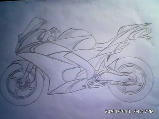 sketsa motor