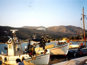 Amorgos : le port de Katapola