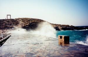 Naxos, voie d'accès à la Portaria