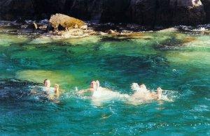Dernière baignade à Oia