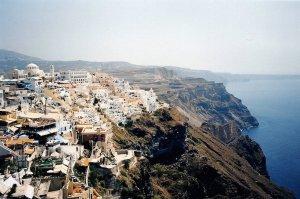 Santorin : les falaises de Thira