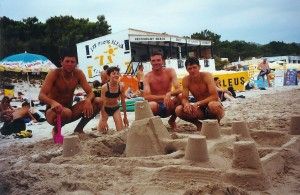 Un château sur la plage