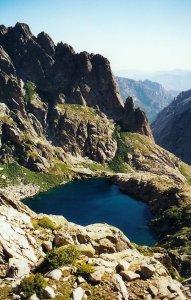 Vue sur le lac de Capitellu