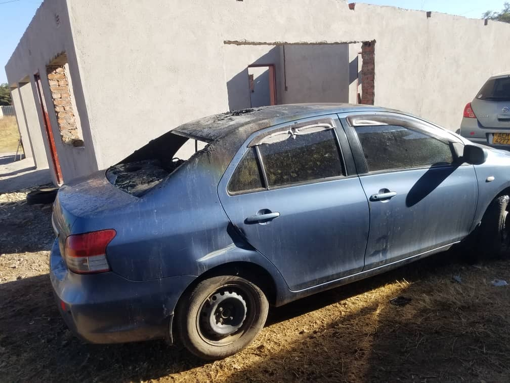 Khupe Ally's Car Petrol Bombed