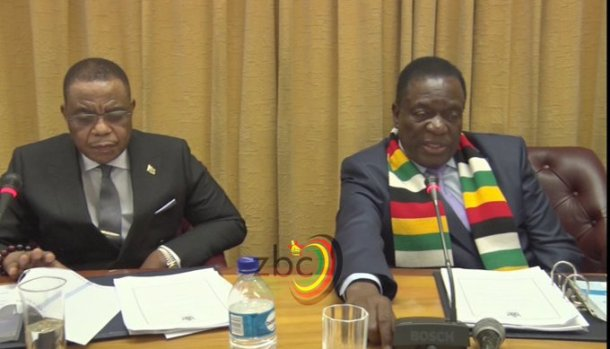 VP Chiwenga attends his first cabinet meeting