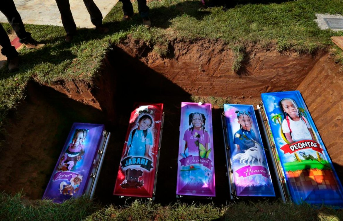 Mother Buries All 5 Children After They Die In Horrible Fire On Her Birthday