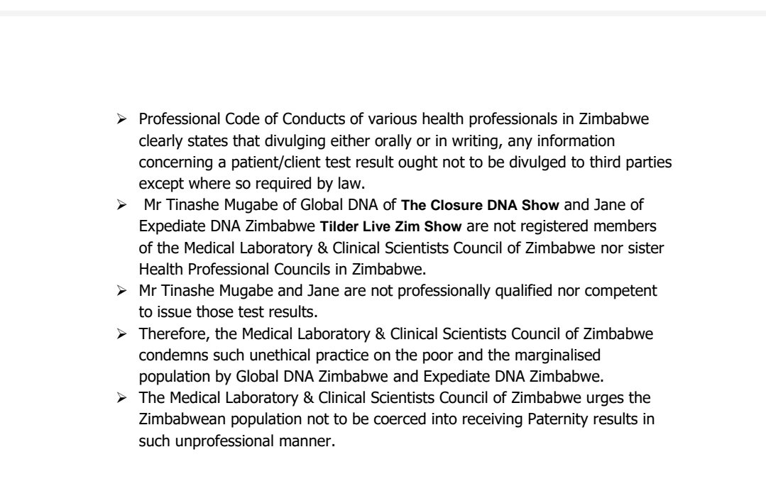 Tinashe Mugabe Is Not Qualified Or Competent: Authorities Slam DNA Show & Tilder Live