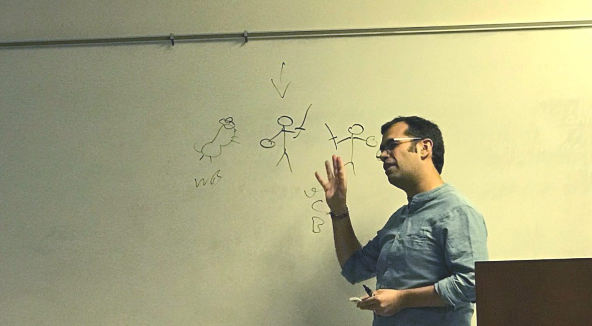 Lecturing on Aegean Bronze Age warfare, hunting and violence at MSU