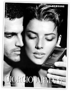 Agyness Deyn Georgio Armani Cell Ad