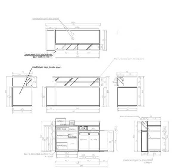 plans du meuble caisse